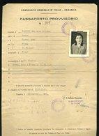 109 ZAGABRIA CONSOLATO PASSAPORTO PROVVISORIO 1948,AL RETRO MARCHE EX JUGOSLAVIA E TIMBRO CROCE ROSSA UDINE - Historical Documents