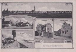 CPA : Sondernheim (Allemagne)  Multivues Ansicht, Haus, Strasse, Rhein   Good Conditions Ed De Leimer - Other