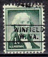 USA Precancel Vorausentwertung Preo, Locals West Virginia, Winfield 745 - Etats-Unis