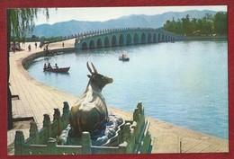 CN.- China. Peking. Summer Palace. The Bronze Ox By The Seventeen-A Rch Bridge. - China