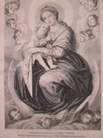 1863 Sasso-Ferrato  M SAJOU     TAPISSERIE DE LA VIERGE   Au Croissant - Old Paper
