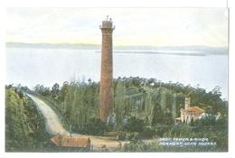 Vintage Tasmania, Shot Tower & River Derwent Near Hobart Colour Pc Unused.McVilly & Little - Hobart