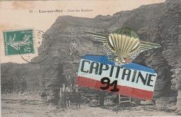 CPA LUC SUR MER CALVADOS DANS LES ROCHERS - Luc Sur Mer