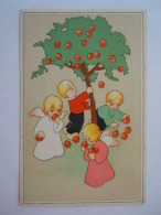 Dessin  Enfants Avec Anges Arbre Pommes Engelen Met Kindjes Appelen Boom Coloprint Special 1561 Belgium - Illustrators & Photographers