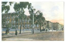 Vintage Tasmania, Hobart Macquarie Street Looking West Colour Pc Unused.McVilly & Little - Hobart