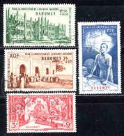 Dahomey  - 1942 -  Protection De L' Enfance + Quinzaine Impériale -  PA 6 à 9 - Oblit - Used - Dahomey (1899-1944)