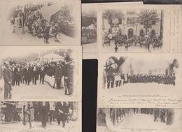 Algérie:Lot 7 CPA:Voyage Présidentiel 1903 - Algérie