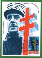""""""" MEMORIAL AU GENERAL DE GAULLE """" Sur Carte Maximum. N° YT 1941. Parfait état !  CM - De Gaulle (General)"""