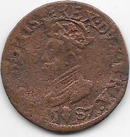 Espagne - Philippe II - 1587 - Cuivre - Monnaies Provinciales