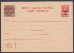 Lettland : P 1, Überdruckkarte, Bestens Erhalten, * - Besetzungen 1938-45
