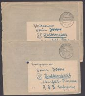 """Feldpost . 2 Belege Aus Einer Korrespondenz In Die """"Mansfeld-Kaserne"""", 24.2.45 Bzw. 3.3.45 - Deutschland"""
