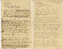 POËTE LANGUE BEARNAISE DOCTEUR LEONCE LACOARRET (1861-1923) 2 POEMES AUTOGRAPHES 1898 SIGNES LACOARRET ET YAN Dé BERN ? - Autographs