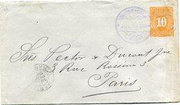 NICARAGUA ENTIER POSTAL DEPART LEON JUL 20 1896 POUR LA FRANCE - Nicaragua