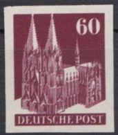 93 U DD, Breitrandig, Ungezähnt, Klarer Doppeldruck, ** - Bizone