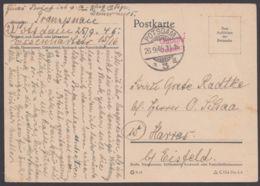 """Gebühr Bezahlt"", L2 ""Potsdam"", 26.9.45, Bedarfskarte - Sowjetische Zone (SBZ)"