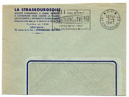 RHIN / Bas - Dépt N° 67 = STRASBOURG RP 1967 =  FLAMME PP Codée = SECAP ' Les PTT Vous Offrent SITUATIONS ... - Marcophilie (Lettres)