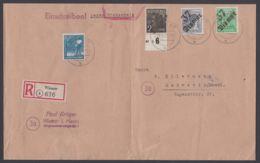 """166 VII, 180/1 VIII, Bezirkshandstempel """"37 Wismar"""", MiF Auf R-Brief/Rückschein, Ankunft, 2seitig Geöffnet - Sowjetische Zone (SBZ)"""