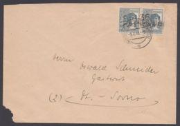 """170 VII, Bezirkshandstempel """"36 Finsterwalde"""" über 2 Marken, Waag. Paar, Brief Eckfehler - Zone Soviétique"""