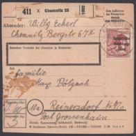 "A195, EF Auf Paketkarte ""Chemnitz"" - Sowjetische Zone (SBZ)"