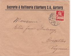 No 158 Sur Lettre De La Sucrerie & Raffinerie S.A.. Aarberg, Oblitérée  Aarberg Le 28.III.1934 - Suisse