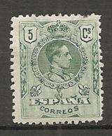 1909 - Yv. N° 243   *  5c  Alphonse XIII   Cote  1,5 Euro   D    2 Scans - Ungebraucht