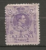 1909 - Yv. N° 245   *  15c  Alphonse XIII   Cote  9 Euro   BE R   2 Scans - Ungebraucht