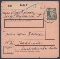 """225, EF Auf Paketkarte """"Zeitz"""" - Sowjetische Zone (SBZ)"""