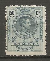 1909 - Yv. N° 251   *  50c  Bleu-vert  Alphonse XIII   Cote  12 Euro   BE    2 Scans - Ungebraucht