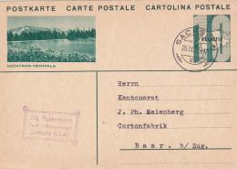 Entier Postal De Jos.Ackermann, Tuch.u.Massgeschäft, Oblitéré SACHSEN Le 26.IX.31 - Illustation Montana-Vermala - Entiers Postaux