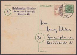 """P 5 B, Bedarf """"Rostock"""", 12.7.46 Nach Barsinghausen Mit Zusatzfr. - Sowjetische Zone (SBZ)"""