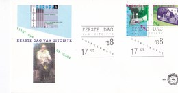 Nederland - FDC - Europa-CEPT 1988 , Transport En Milieu - Loodvrije Benzine/fietsers In Een Verkeerssituatie- NVPH E254 - Milieubescherming & Klimaat
