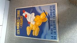 Affiche R BLEUER Dégustez Des Pommes De Terre De France - Affiches