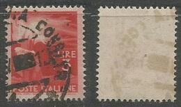 Filigrana Lettere CPL 100% A Sx + 4 Mm - Democratica L.3 Carta Bianca NSx Usato - 6. 1946-.. Repubblica