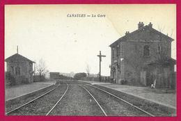 CPA Canaules - La Gare - Francia