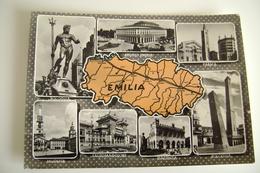 RIVIERA  ADRIATICA  EMILIA    CARTA GEOGRAFICA  CARTINA     VIAGGIATA  COME DA FOTO - Carte Geografiche