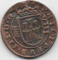Espagne - Philippe III - 1598-1621 - Cuivre - Monnaies Provinciales