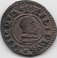Espagne - Philippe IV - 1662 - Cuivre - Monnaies Provinciales