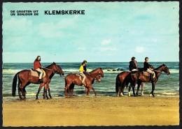 KLEMSKERKE - Promenade à Cheval Sur Le Plage - Circulé - Circulated - Gelaufen - 1971. - De Haan