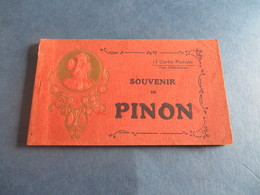 TRES RARE CARNET DE PINON Dans L'AISNE Manque 1 Carte,motif De La Tete En Relief - France