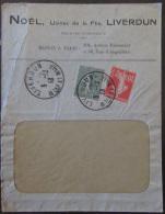 2 Timbres Semeuse 10c Et 15c YT N°130, 135 Sur Enveloppe Noël, Usines De La Flie, Liverdun - 1913 - Vers Constantinople - Marcophilie (Lettres)