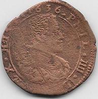 Espagne - Philippe IV - 1636 -  Cuivre - Provincial Currencies