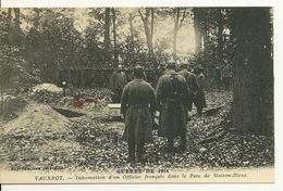 02 - VAUXROT / INHUMATION D'UN OFFICIER FRANCAIS DANS LE PARC DE MAISON BLEUE - France