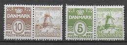 DANEMARK - YVERT N° 246/247 + 210 ET 213A SE TENANTS ISSUS De CARNET ! ** MNH - MOULINS - Ungebraucht