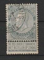 MiNr. 75  Belgien / 1905, 1. Mai/21. Juli. 75 Jahre Unabhängigkeit. Bdr.; Gez. 14. - 1905 Breiter Bart