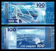 100 РУБ 2018г  КРЫМСКИЙ МОСТ  СУВЕНИРНАЯ БАНКНОТА - Russie