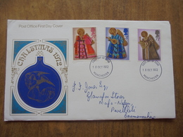 S040: FDC: CHRISTMAS 1972. 2.5p, 3p, 7.7p. 18 Oct 1972. FIRST DAY OF ISSUE. - FDC