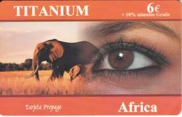 TARJETA DE ESPAÑA DE UN ELEFANTE (ELEPHANT) TITANIUM (RARA) - Télécartes