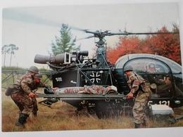 Deutsche Bundeswehr. Verwundetentransport Mit Hubschrauber, 1980 - Manoeuvres