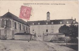 CPA Dept 36 LOURDOUEIX SAINT MICHEL Le College Entrée - Other Municipalities