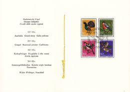 Oiseaux - Suisse - Pro Juventute - Série De 1968 Dans Un Encart Spécial - Oblit Bern - Sparrows